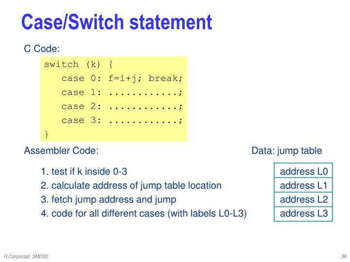 Case/Switch statement
