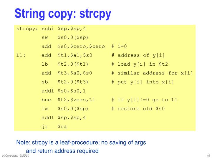 String copy: strcpy