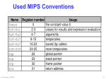 used mips conventions