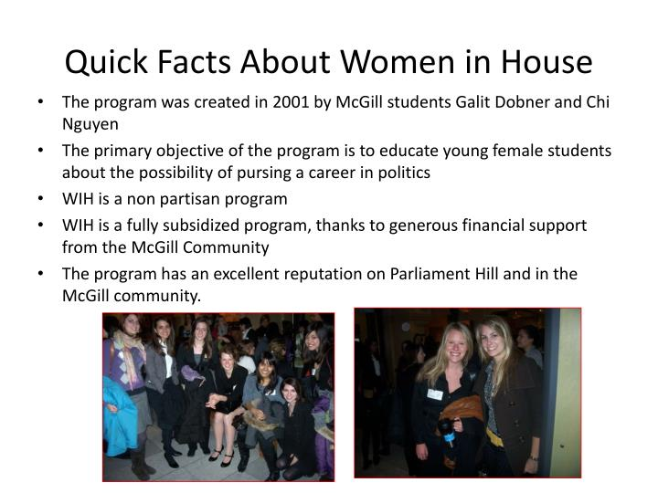 Quick Facts About Women in House