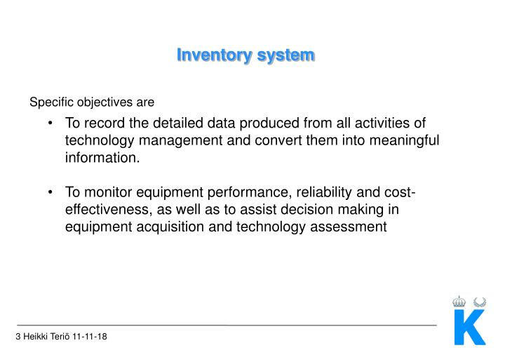 Inventory system2