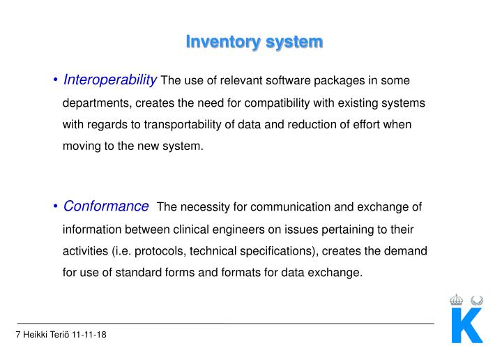 Inventory system