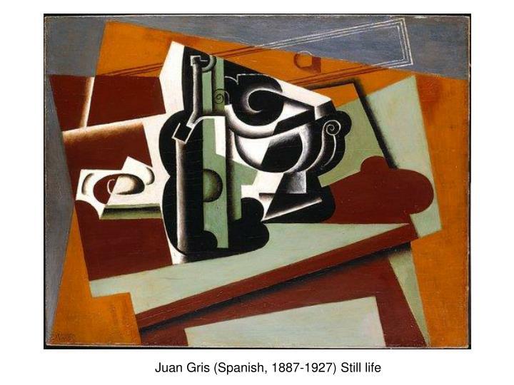 Juan Gris (Spanish, 1887-1927) Still life