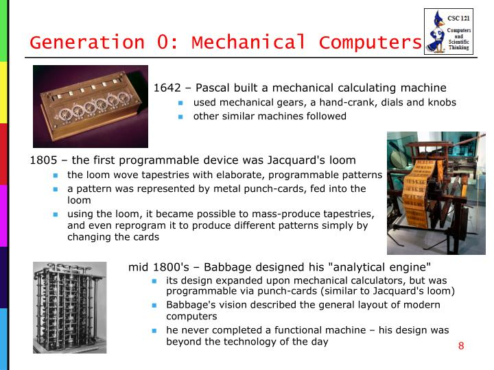 Generation 0: Mechanical Computers