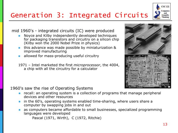 Generation 3: Integrated Circuits