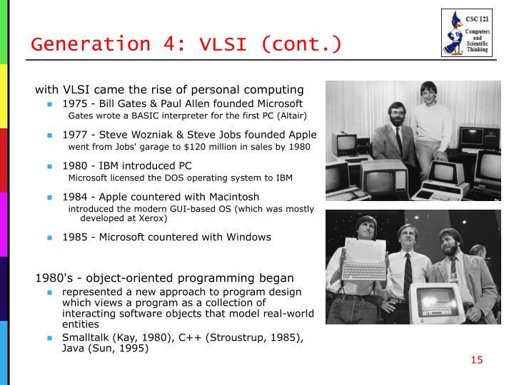 Generation 4: VLSI (cont.)