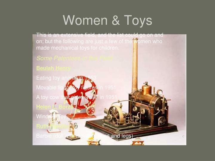 Women & Toys