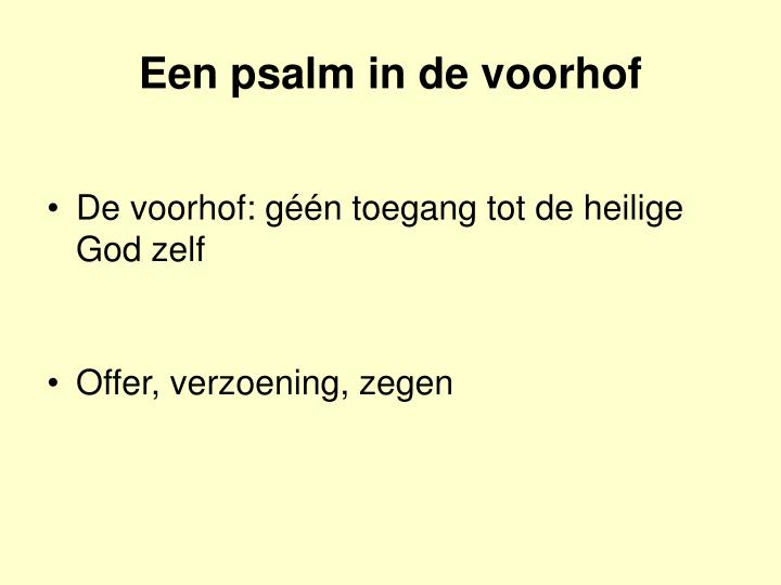 Een psalm in de voorhof