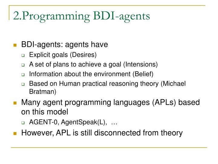 2.Programming BDI-agents