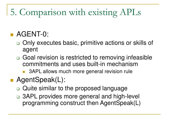 5. Comparison with existing APLs