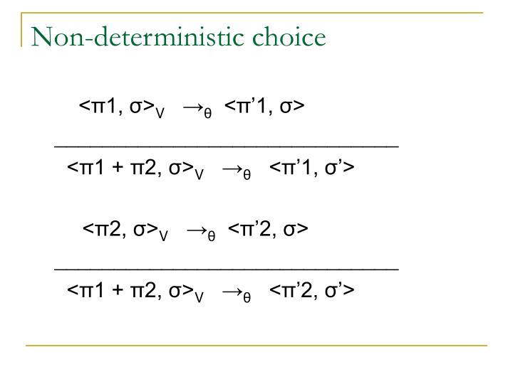 Non-deterministic choice