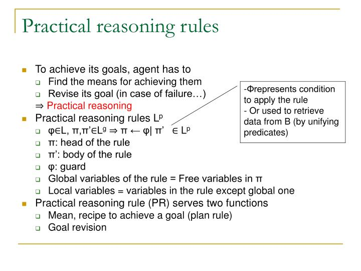 Practical reasoning rules