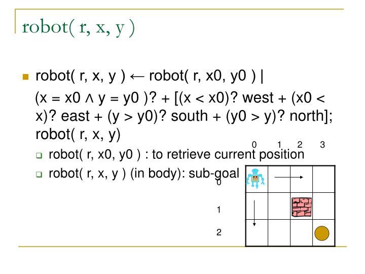 robot( r, x, y )