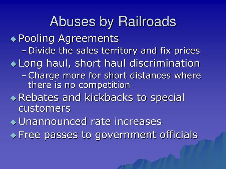 Abuses by Railroads
