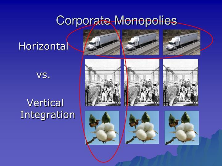 Corporate Monopolies
