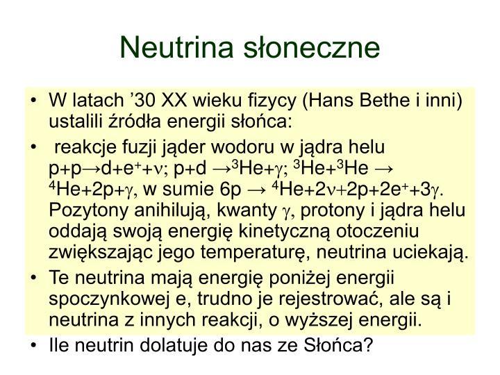 Neutrina słoneczne