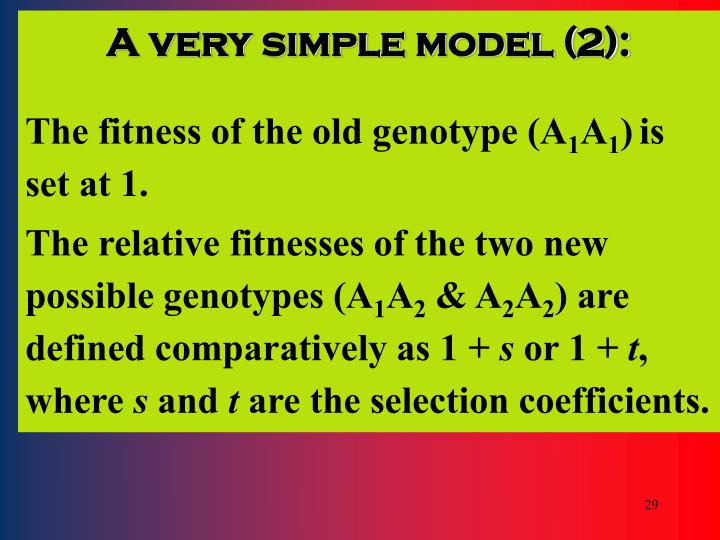 A very simple model (2):