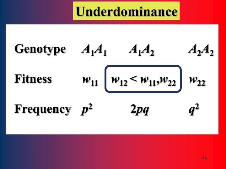 Underdominance