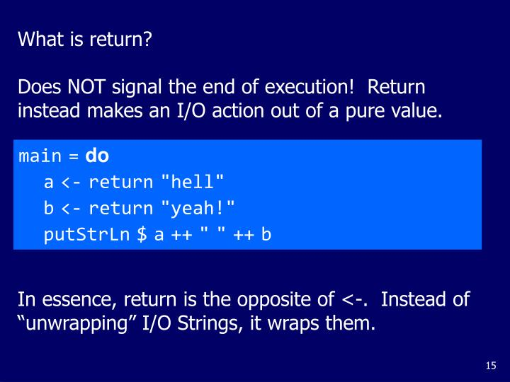 What is return?