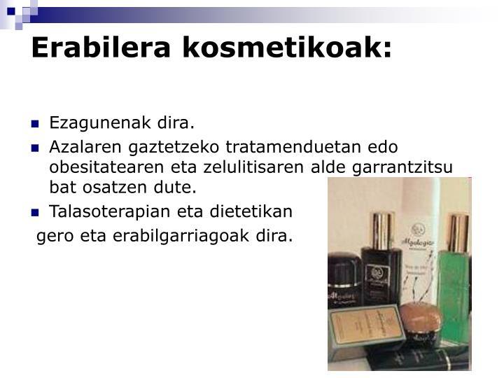Erabilera kosmetikoak: