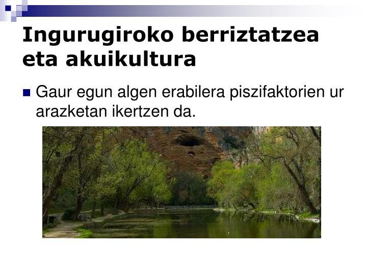 Ingurugiroko berriztatzea eta akuikultura