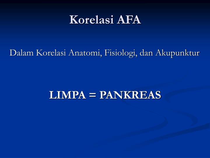 Korelasi AFA