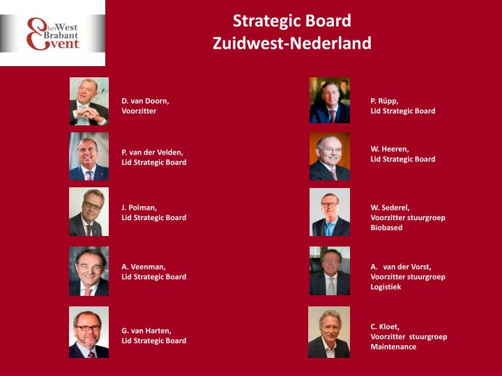 Strategic board zuidwest nederland