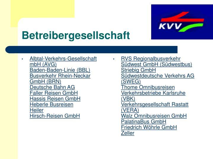 Albtal-Verkehrs-Gesellschaft mbH (AVG)