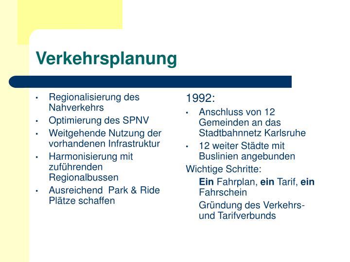 Regionalisierung des Nahverkehrs