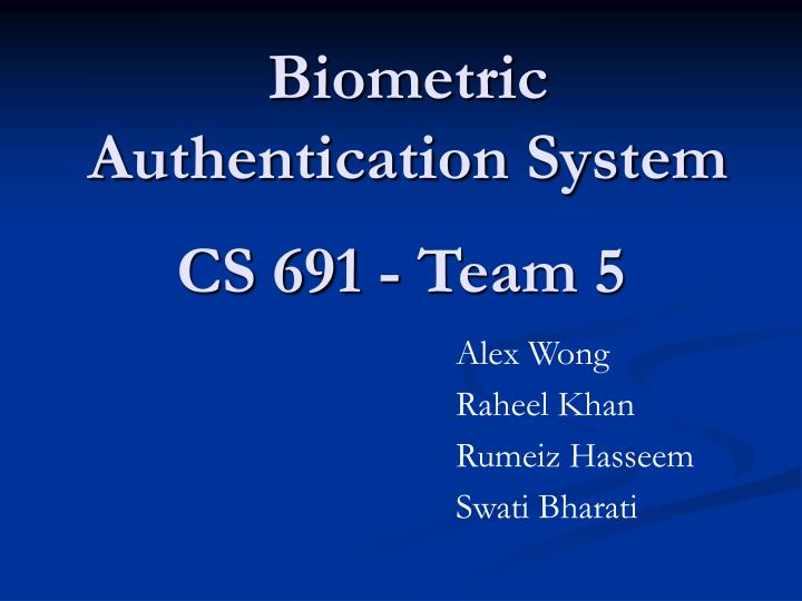 Biometric Authentication System