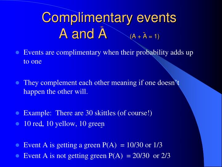 Complimentary events