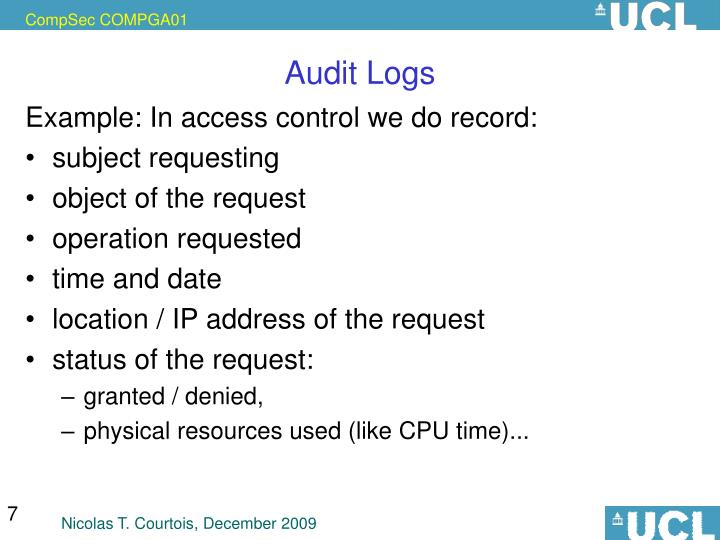 Audit Logs