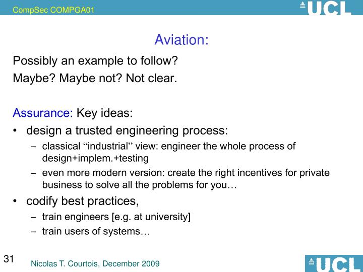 Aviation: