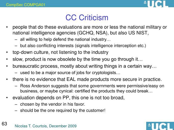 CC Criticism