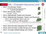 eal evaluation assurance level