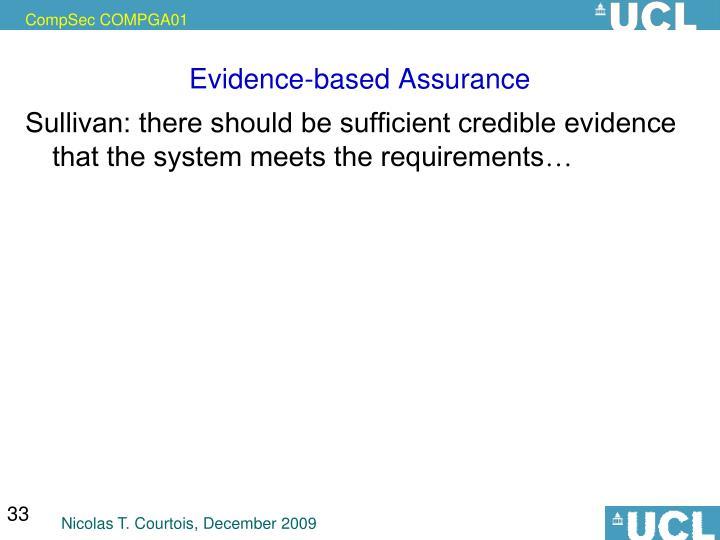 Evidence-based Assurance