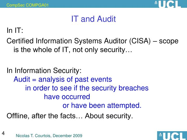 IT and Audit