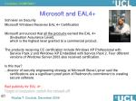 microsoft and eal4