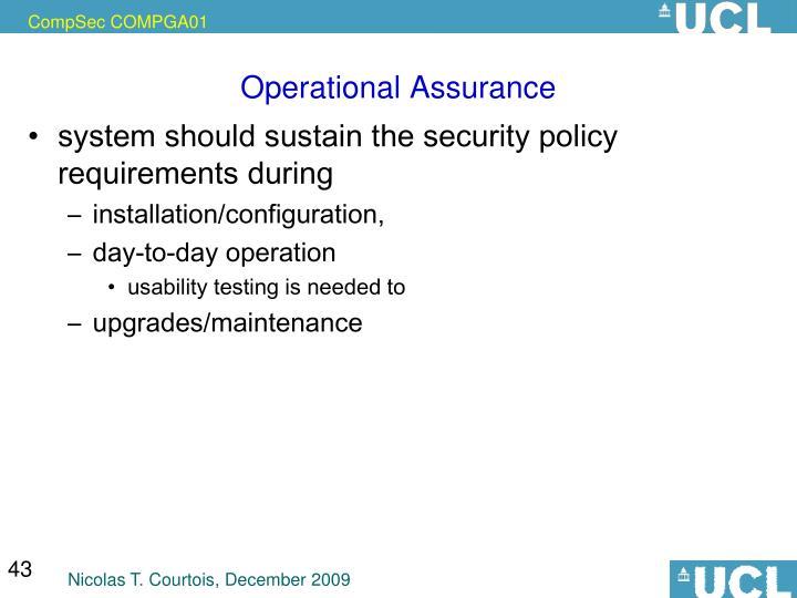Operational Assurance