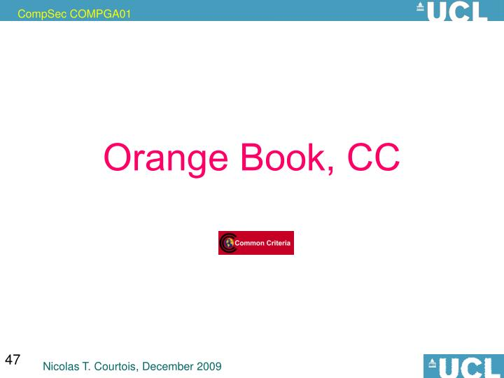 Orange Book, CC