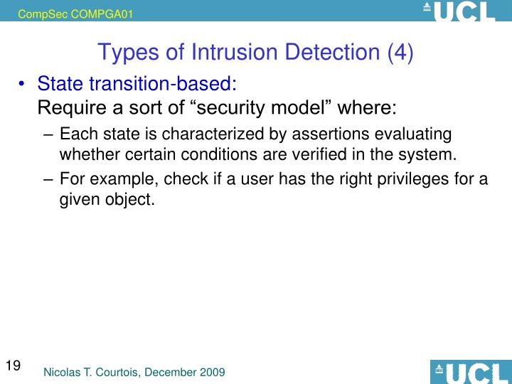 Types of Intrusion Detection (4)