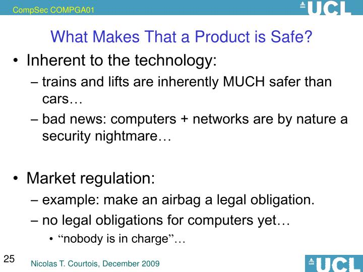 What Makes That a Product is Safe?