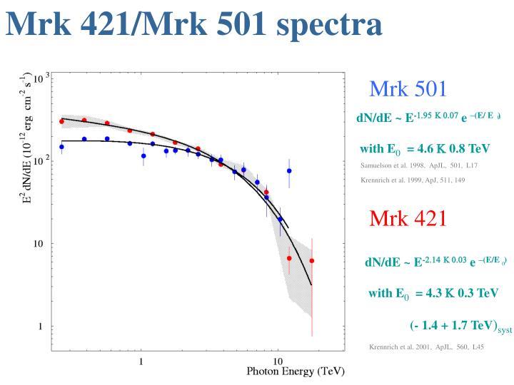 Mrk 421/Mrk 501 spectra