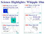 science highlights whipple 10m