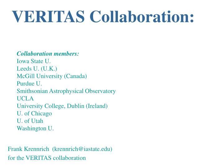 VERITAS Collaboration: