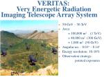 veritas very energetic radiation imaging telescope array system