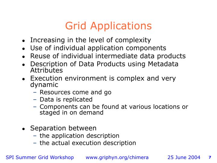 Grid Applications