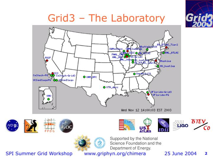 Grid3 the laboratory