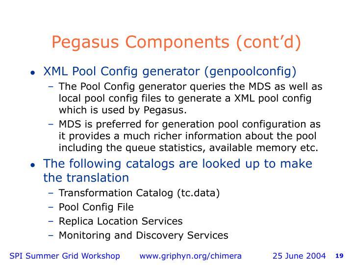 Pegasus Components (cont'd)