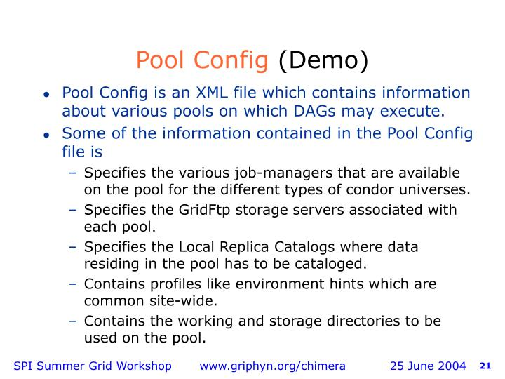 Pool Config